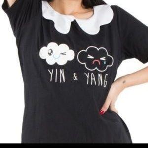 Yin & Yang So So Happy Black & White Girly T-Shirt